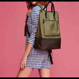 Olive Green Backpack With Shoe Compartment Bag